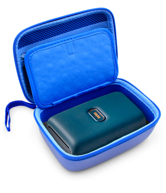 CASEMATIX Blue Travel Carrying Case for Fujifilm Instax Mini Link Smartphone Photo Printer and Instant Film, Includes EVA Carry Case Only with Foam