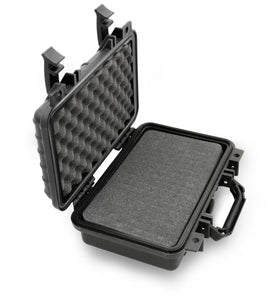 "CASEMATIX 12"" Waterproof Hard Travel Case with Padlock Rings and Customizable Foam - Fits Accessories up to 9"" x 5"" x 2.75"""