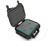 "CASEMATIX 14"" Waterproof Hard Travel Case with Padlock Rings and Customizable Foam - Fits Accessories up to 10.5"" x 7.5"" x 4.25"""