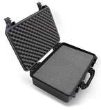 "CASEMATIX 18"" Waterproof Hard Travel Case with Padlock Rings and Customizable Foam - Fits Accessories up to 15.5"" x 9.5"" x 5"""
