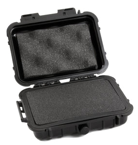 "CASEMATIX 6.25"" Waterproof Hard Travel Case with Rubber and Customizable Foam Interior - Fits Accessories up to 4.5"" x 2.5"" x 1.25"""