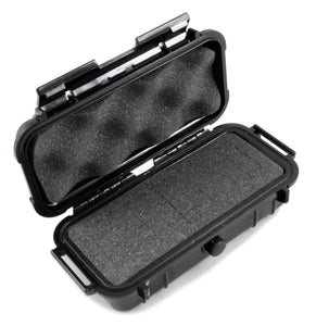 "CASEMATIX 7.75"" Waterproof Hard Travel Case with Rubber and Customizable Foam Interior - Fits Accessories up to 5.5"" x 2"" x 1.5"""