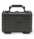 "CASEMATIX 8"" Waterproof Hard Travel Case with Padlock Rings and Customizable Foam - Fits Accessories up to 6"" x 3.5"" x 2.75"""
