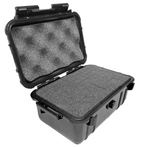 "CASEMATIX 8"" Waterproof Hard Travel Case with Rubber and Customizable Foam Interior - Fits Accessories up to 6.25"" x 3.37"" x 2.25"""