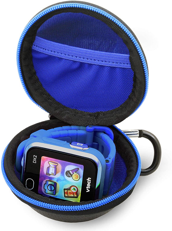 CASEMATIX Carry Case fits Verizon Gizmo Watch for Kids, VTech Kidizoom Smartwatch Dx2 - Protective Travel Case with Accessory Pouch and Carabiner for Backpack - Includes Case Only