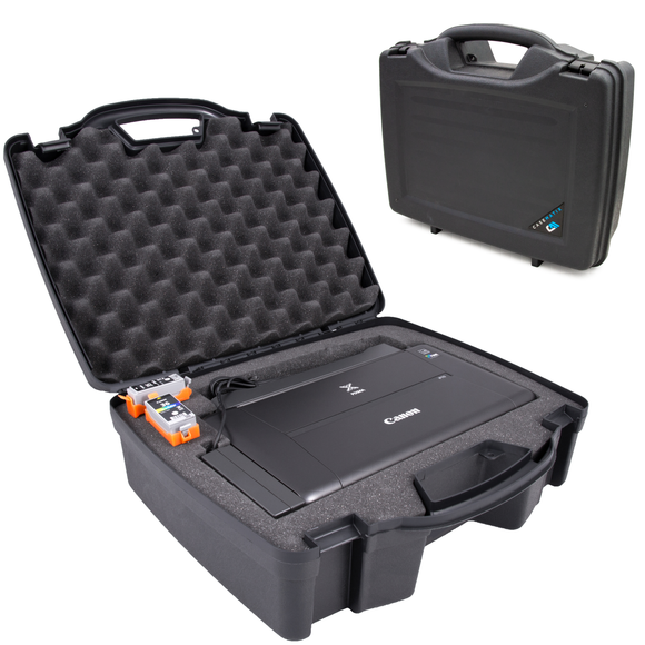 CASEMATIX Printer Travel Case Compatible with Canon PIXMA TR150 iP110 Wireless Portable Printer and Accessories