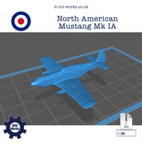 North American Mustang Mk1 A (STL file)