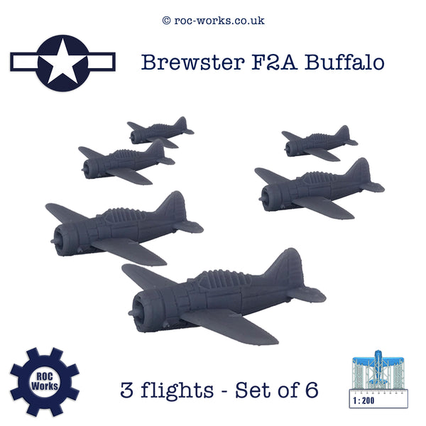 Brewster F2A Buffalo (resin print)