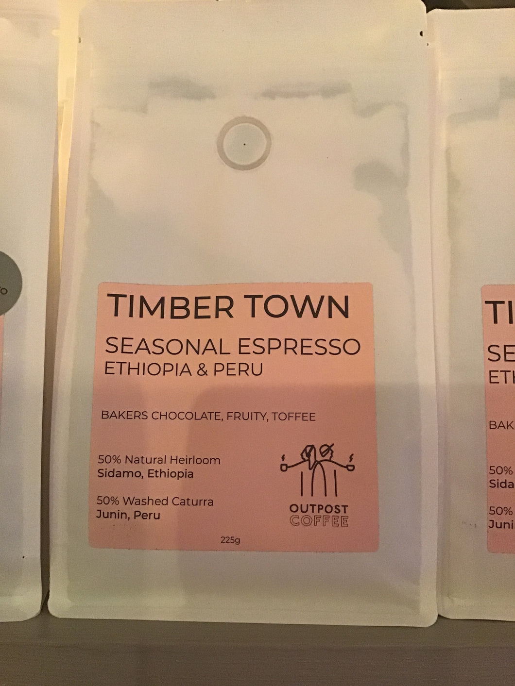 Outpost coffee timber town seasonal blend