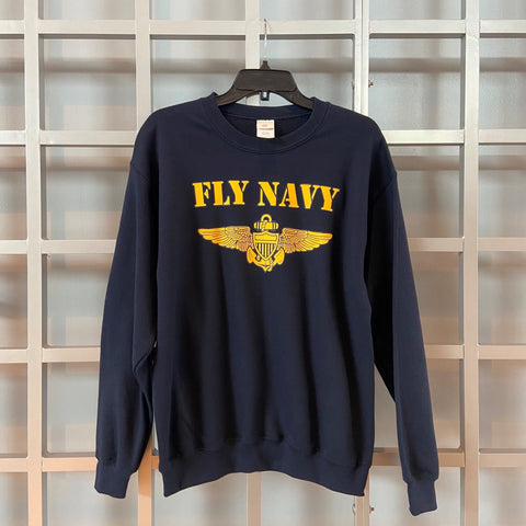 Fly Navy Crewneck Sweatshirt
