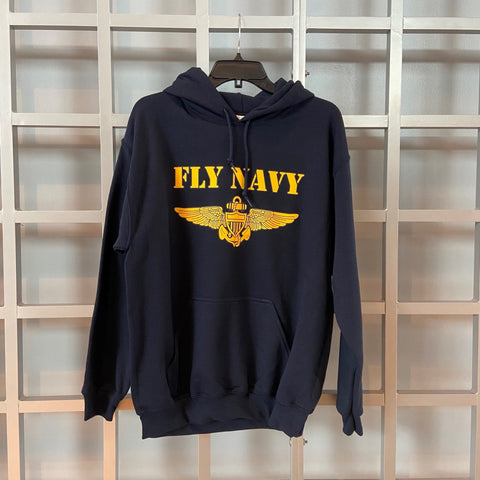Fly Navy Hooded Sweatshirt