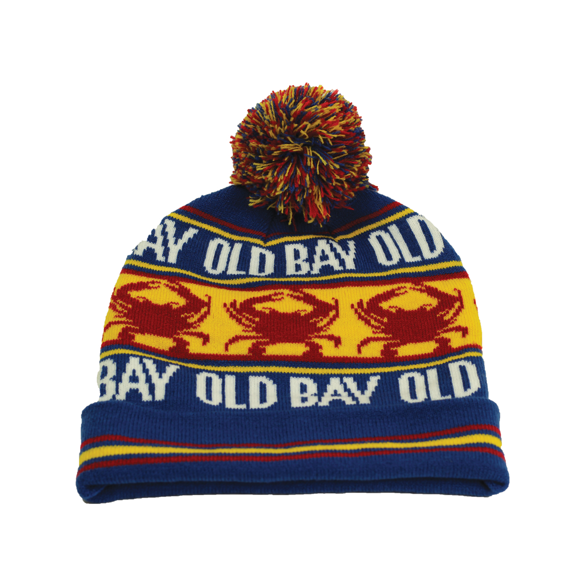 Old Bay Crab Stripe Beanie