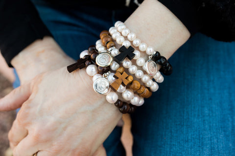 Cross and Lady of Suyapa Bracelets