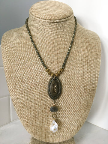 Vintage Keyhole and Pyrite