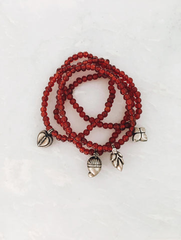 Red and Silver Charms