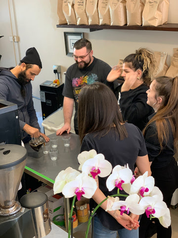 Cupping at the Shop