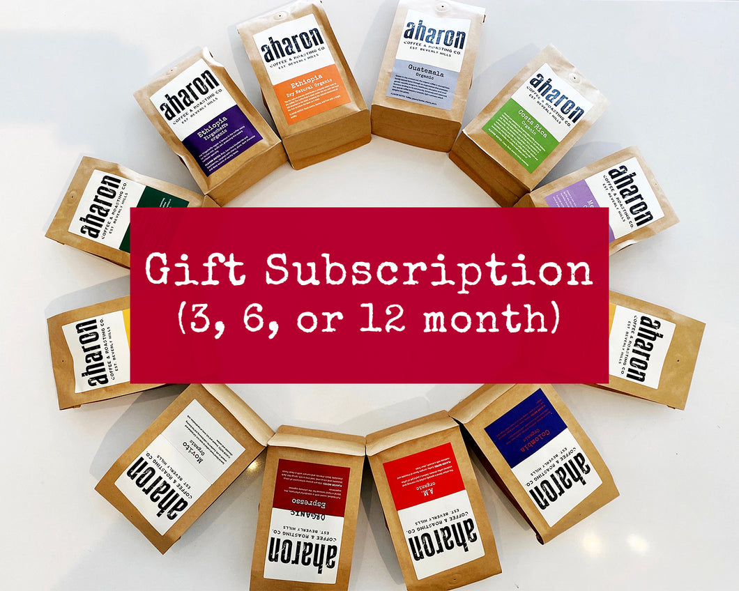 Aharon Coffee Gift Subscription