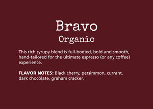 espresso, coffee, bravo, organic, subscription, sweet, hand-tailored, vibrant, citrus, clean
