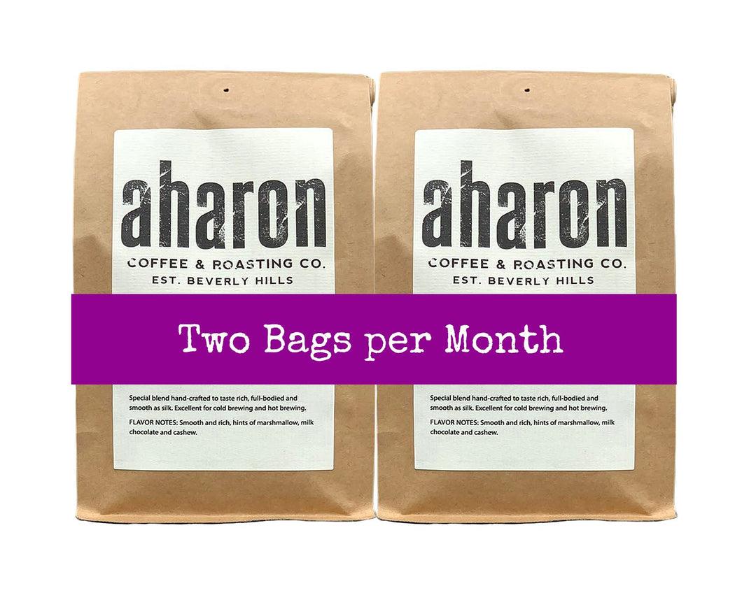 2 bags (delivered together) per Month
