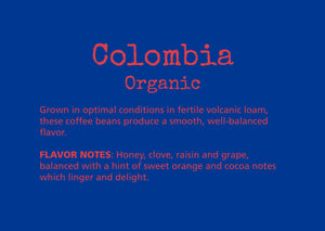 coffee, colombia, organic, subscription, volcanic soil, cherry, cararmel, honey