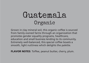coffee, subscription, guatemala, well balanced, light, delightful on the palate, chocolatey notes, deep, richness, toffee, peanut butter, cherry, plum