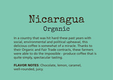 Load image into Gallery viewer, Nicaragua Organic Aharon Coffee Fair Trade