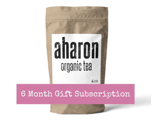 6 months Tea Subscription Gift - 1 bag delivered every month