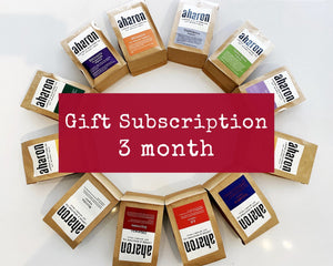 3 months Coffee Subscription Gift - 1 bag delivered every month
