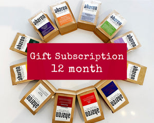 12 months Coffee Subscription Gift - 1 bag delivered every month