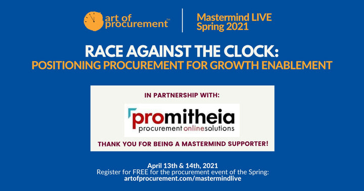 Thank you to MastermindLIVE Spring Supporter Promitheia Procurement!