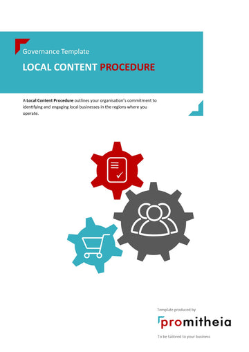 Local Content Procedure