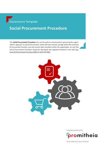 Social Procurement Procedure