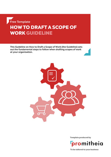 Guideline on How to Draft a Scope of Work