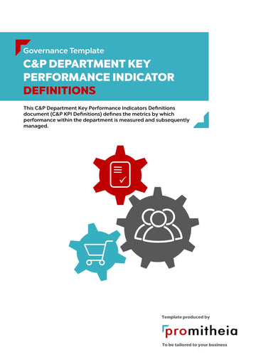 C&P Department Key Performance Indicators Definitions