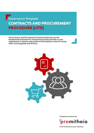 Contracts and Procurement Procedure Lite