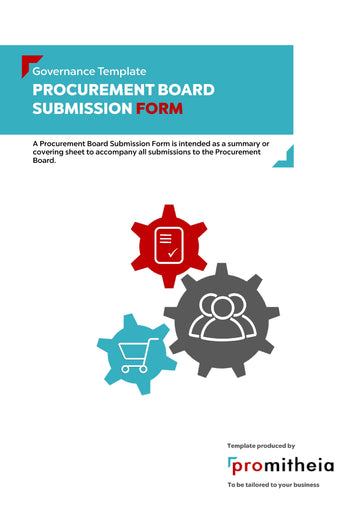 Procurement Board Submission Form