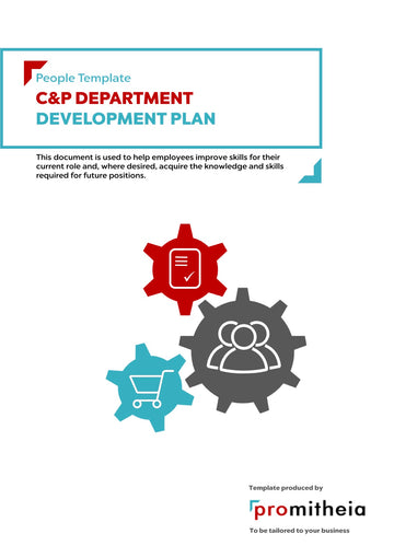 C&P Department Development Plan