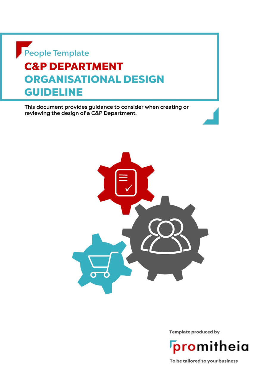 C&P Department Organisational Design Guidelines
