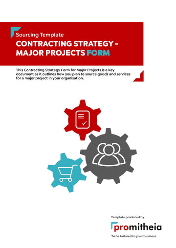 Contracting Strategy Major Projects Form