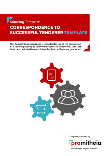 Correspondence to Successful Tenderer(s) Template