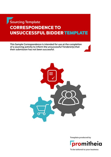 Correspondence to Unsuccessful Tenderer(s) Template