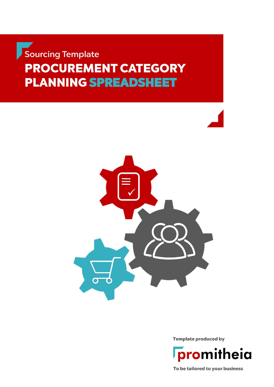 Procurement Category Planning Speadsheet