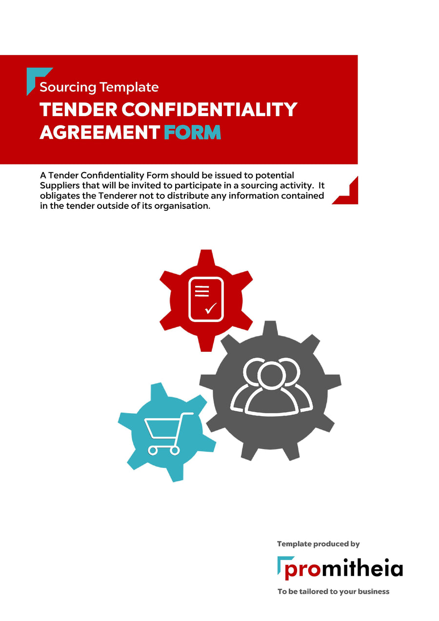 Tender Confidentiality Agreement Form