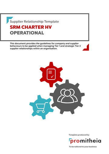 Supplier Relationship Management Charter