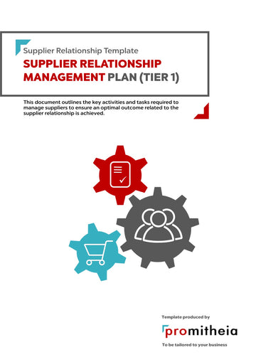 Supplier Relationship Management Plan Tier 1