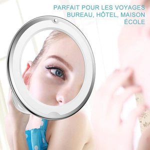 LED Miroir de Maquillage Grossissant