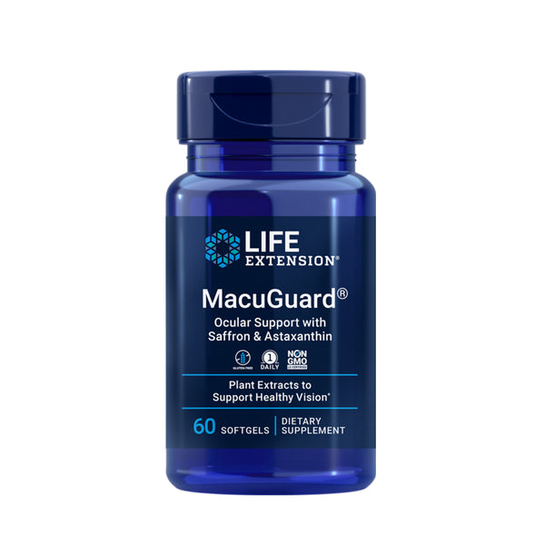 LIFE EXTENSION MACUGUARD OCULAR SUPPORT WITH ASTAXANTHIN 60 CAPSULES