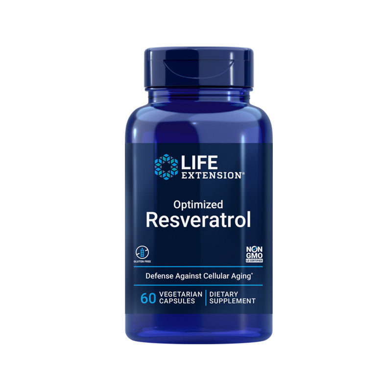 LIFE EXTENSION OPTIMIZED RESVERATROL 60 VCAPSULES