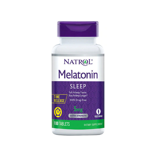 MELATONIN NATROL 5MG TIME RELEASE 100 COMPRIMIDOS