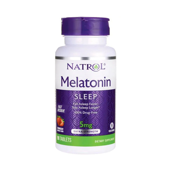 MELATONIN NATROL FAST DISSOLVE 5 mg 90 TABLETS